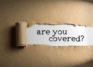 Are You Covered Insurance Torn Paper