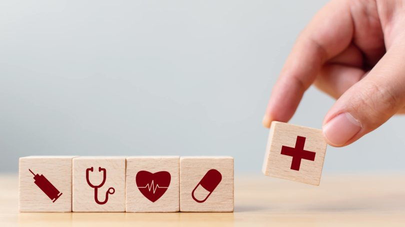 Health Insurance Blocks Icons