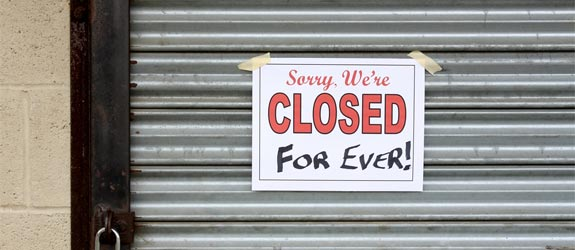closed forever business sign