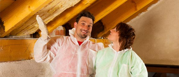 couple insulation attic