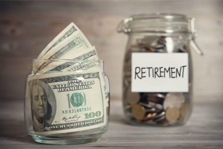 Retirement Jar Cash Savings Investment Funds