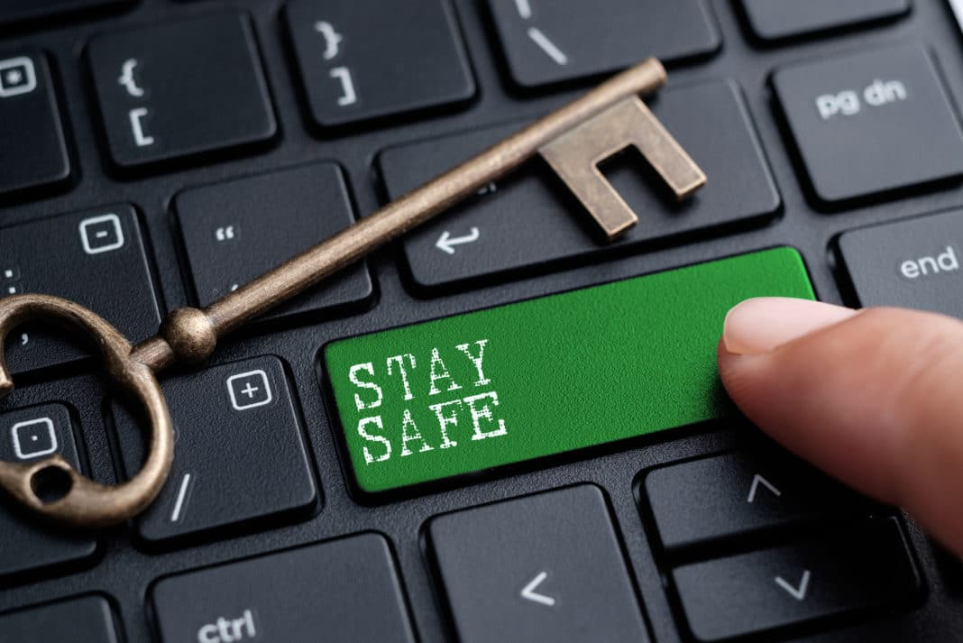 Stay Safe Keyboard Button