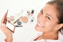 woman makeup smiling