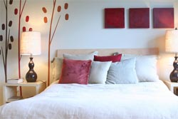bedroom design red