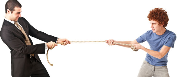 negotiation tug of war
