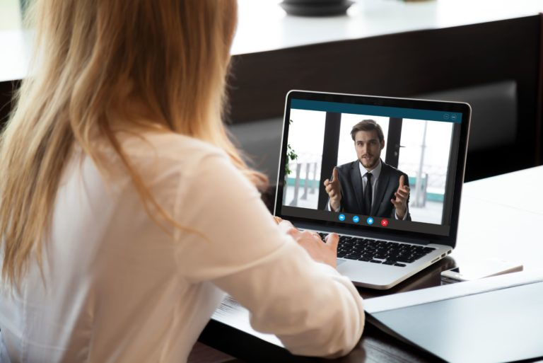 Employee Employer Interview Meeting Virtual Remote Working