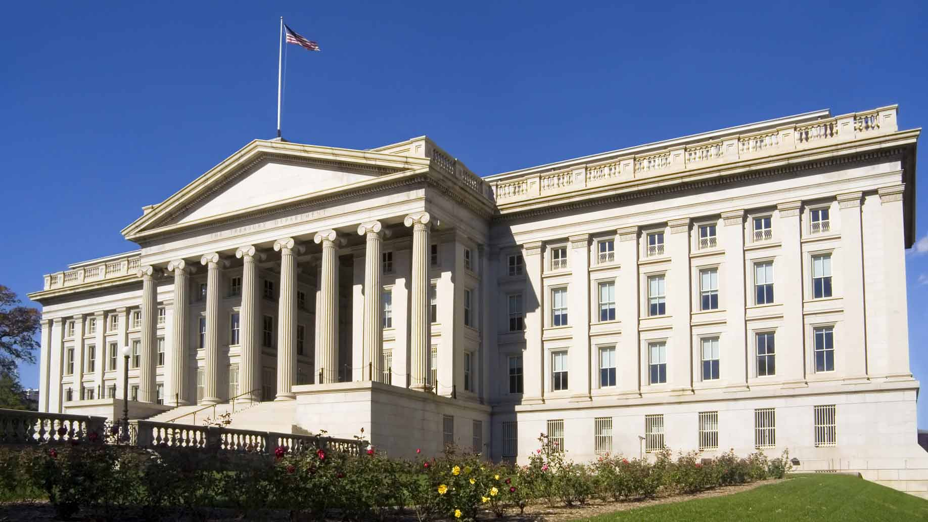 treasury department building in washington