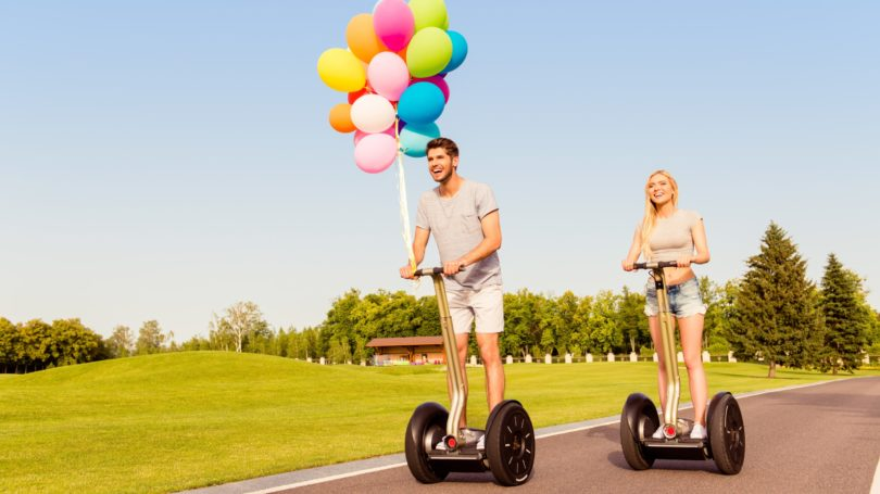 Couple On A Date Segway Tour Balloons
