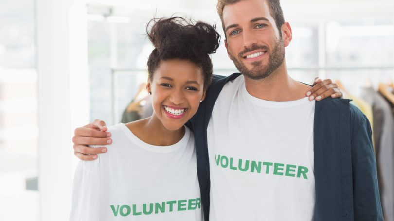 Couple Volunteering Together Charity