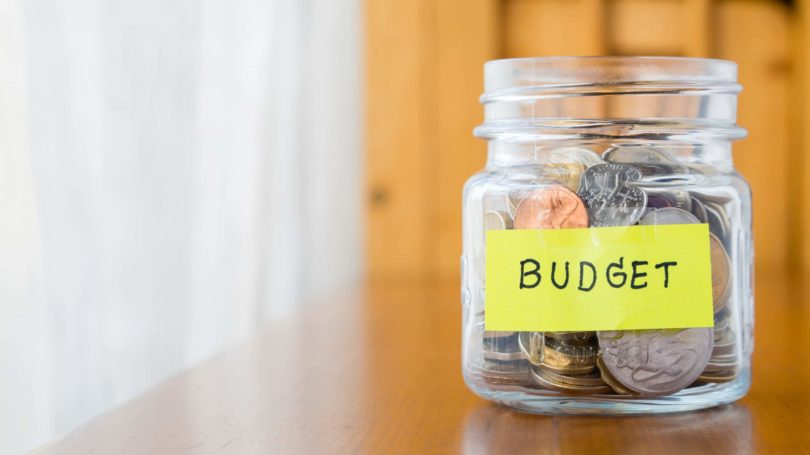 Budget Jar Coins Savings Spending