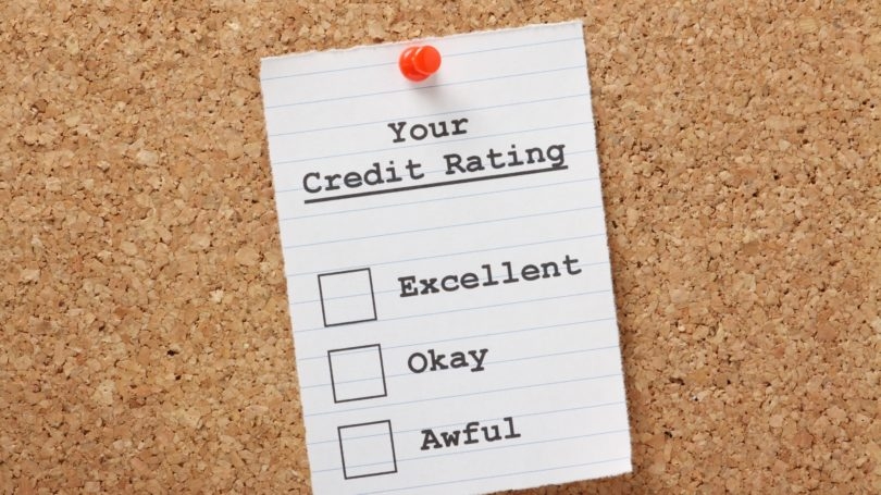 Credit Rating Excellent Okay Awful Coardboard