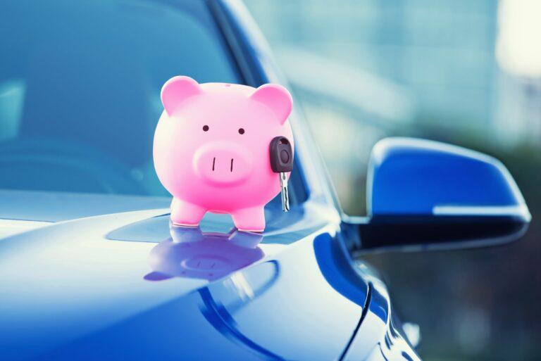 Piggy Bank Car Key Financing Loan