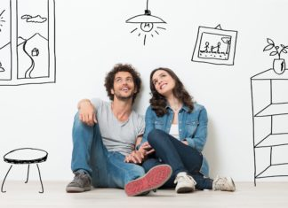 Couple Dreaming About Buying A Home Dream House