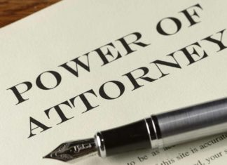 power of attorney paper pen