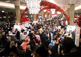 black friday shopping mall