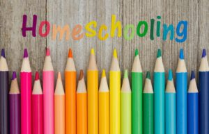 Homeschool Colored Pencils Wooden Table