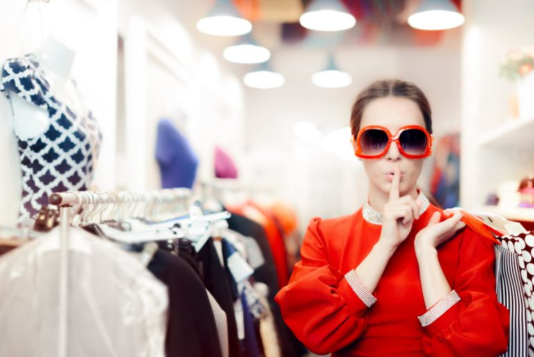 Mystery Shopper Woman In Retail Clothing Store