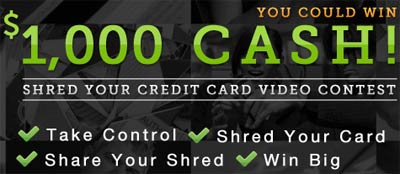 shred credit card win 1000