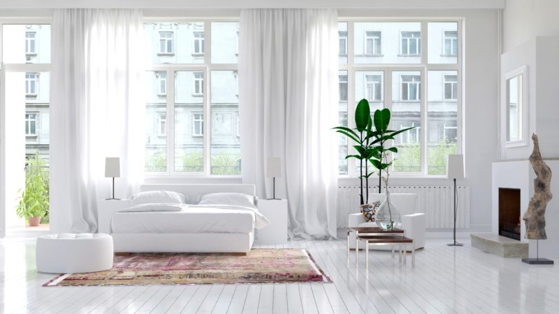 Large Spacious White Monochromatic Apartment Studio