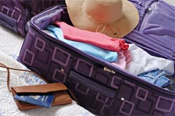 travel suitcase packing