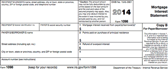 bank of america tax forms 1098