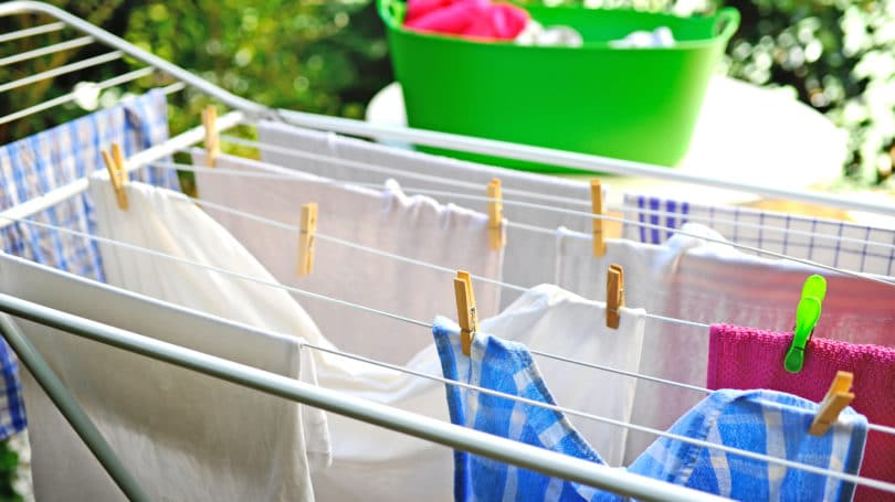 Dry Clothes Cothesline Rack