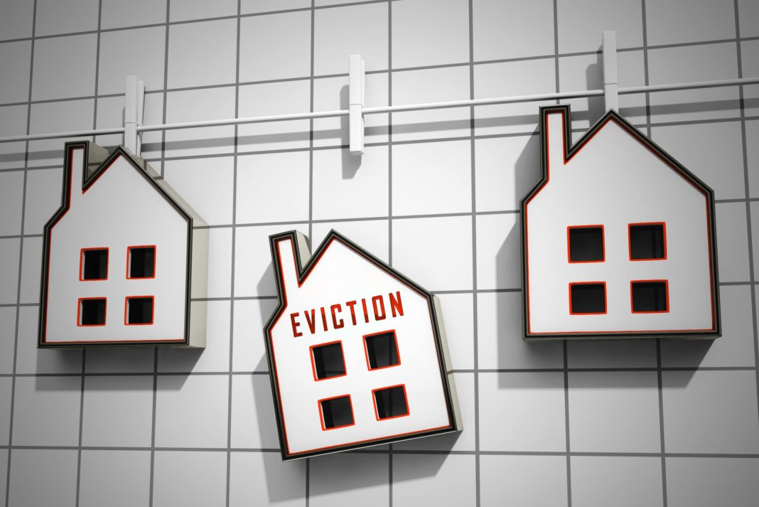 Eviction Notice Illustration Losing House