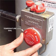 hot water heater temperature