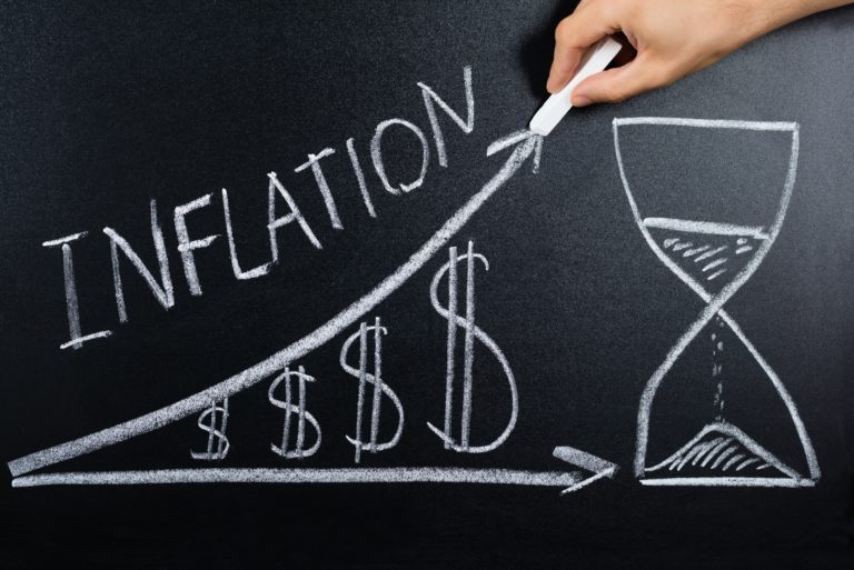 Inflation Rising Time Dollar Graph