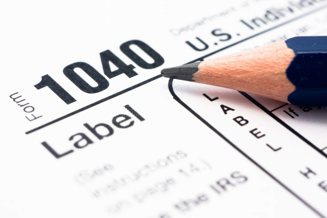 Irs Federal Tax Form 1040