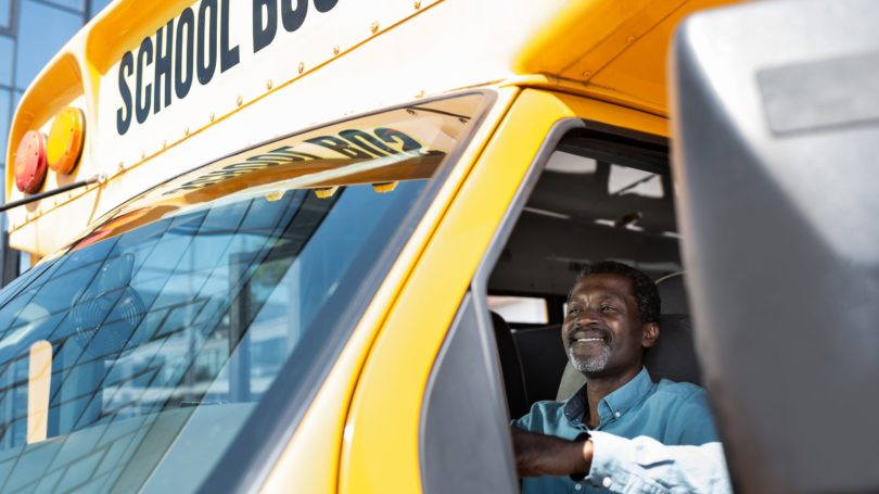 School Bus Driver Yellow