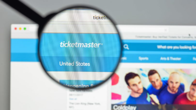 Ticket Master Website Tickets Online Sales