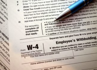 W 4 Tax Withholding Form