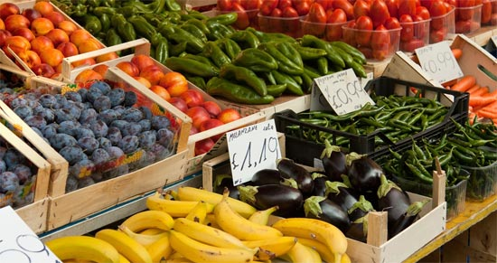 fruits vegetables food prices