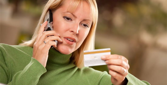 credit card chargeback woman