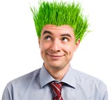 green hair small business