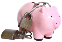piggy bank lock
