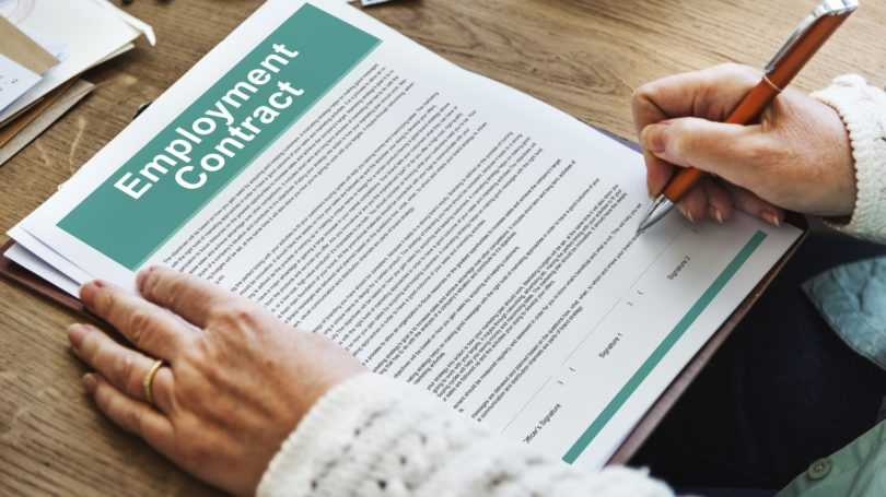 Employment Contract Signing Terms Employee