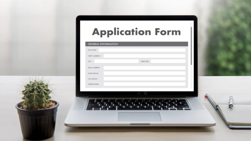 Laptop Application Form Online