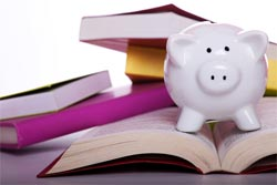 books piggy bank