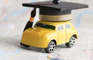 Car For College Student Map Cap Yellow