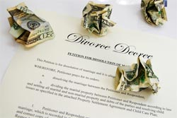 divorce decree money