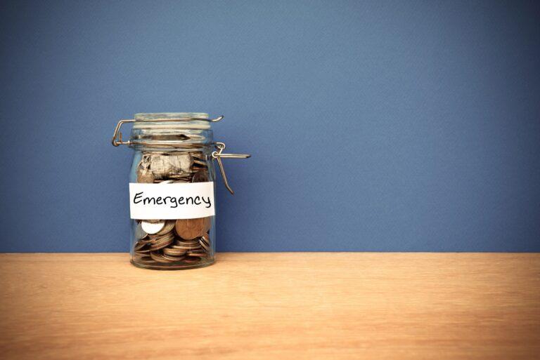 Emergency Savings Jar Coins