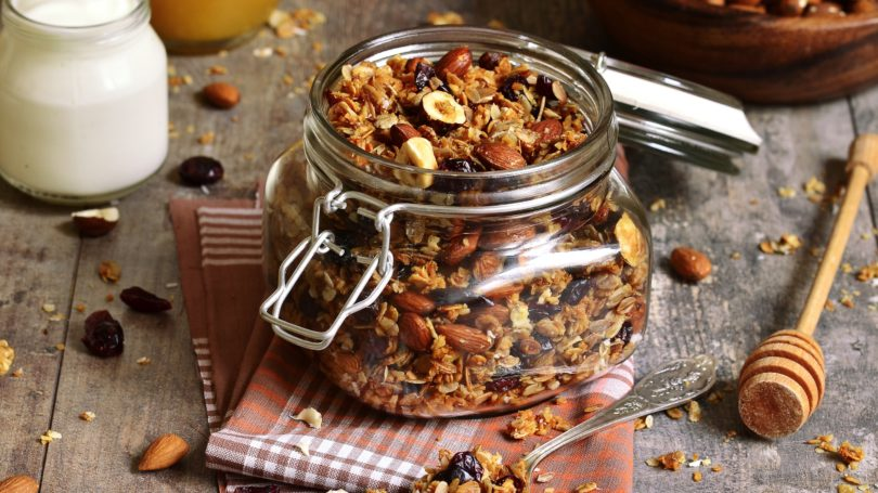 Homemade Granola Mason Jar Honey