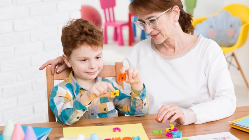 Occupational Therapist Assistant Boy Letters Learning Words