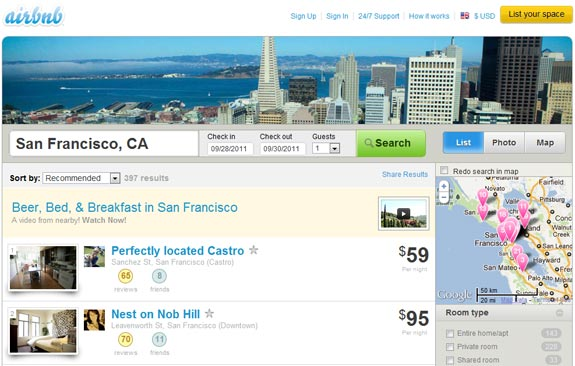 airbnb san francisco screenshot