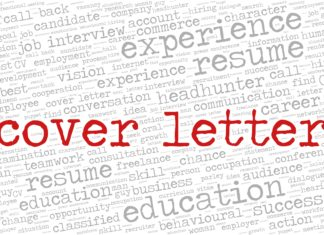 Cover Letter Word Cloud Related Job Interview Employment