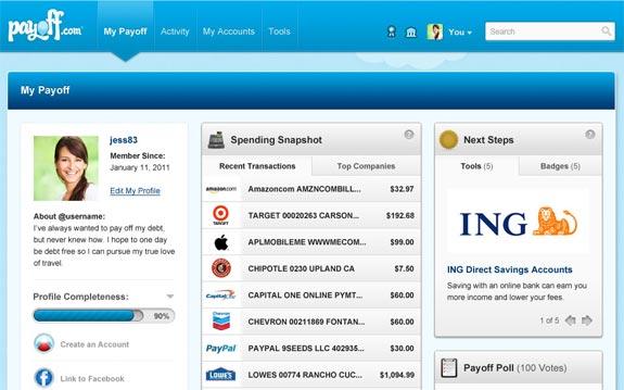 payoff screenshot accounts