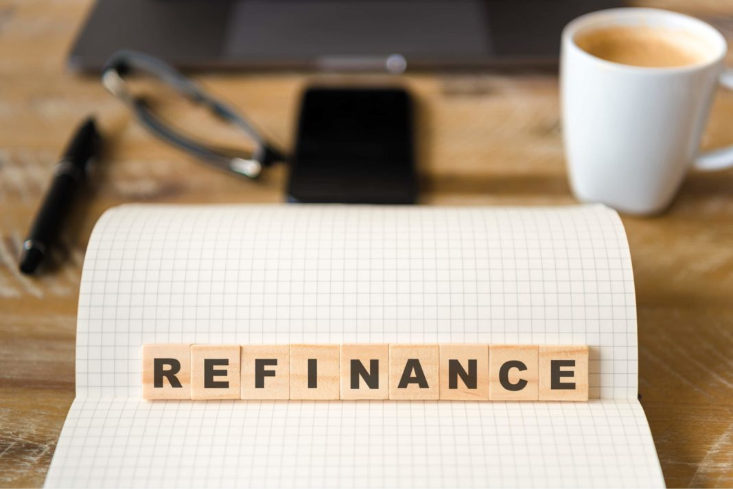 Refinance Block Letters Notebook Table
