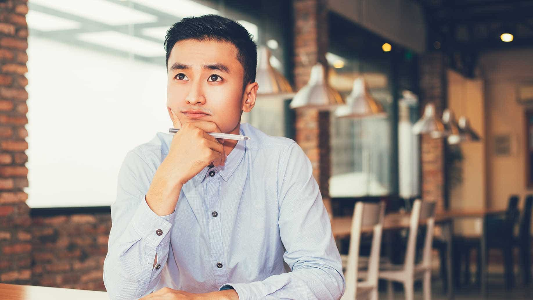 asian entrepreneur thinking